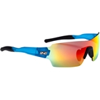 Optic Nerve Vapor IC Sunglasses: Shiny Blue