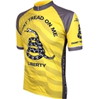 World Jerseys Don't Tread on Me Cycling Jersey: Yellow/Gray