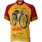 World Jerseys Monark Cycling Jersey: Gold/Red