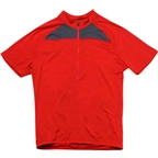 IBEX Pulse Short Sleeve Wool Cycling Jersey: Red