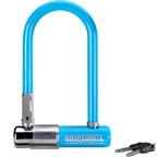 """Krypto series 2 mini-7 U Lock: 3.25 x 7"""" Blue"""