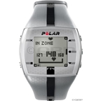 Polar FT4M Heart Rate Monitor: Men's, Silver and Black