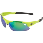 Optic Nerve Neurotoxin 3.0 Sunglasses: Shiny Green, 3 sets of lenses