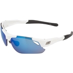 Optic Nerve Neurotoxin 3.0 Sunglasses: Shiny White, 3 sets of lenses