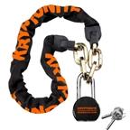 Kryptonite Chain and Moly Chain Lock: Black
