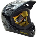 SixSixOne Comp Helmet: Black/Charcoal