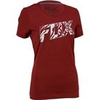 Fox Racing Women's Bonnie Short Sleeve Tech T-Shirt: Heather Red