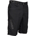 "Zoic 12"" Ether Cycling Short with Removable Chamois Liner: Black LG"
