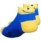 DeFeet Smiley SpeeDe Socks, Blue/Yellow