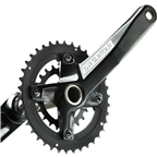 SR Suntour XCR-D Crankset 10-speed 36/22T, 175mm 2 piece, Includes Axle, No Bottom Bracket Bearing, Black