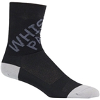 Whisky Parts Co. 5 cuff Logo Sock: Gray~ MD