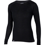 Ibex Women's Woolies 1 Crew Long Sleeve Base Layer Top: Black