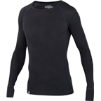 Ibex Men's Woolies 1 Crew Long Sleeve Base Layer Top: Black