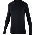 Ibex Men's Woolies 2 Crew Long Sleeve Base Layer Top: Black