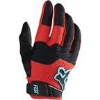 Fox Racing Sidewinder Full Finger Glove: Black/Red