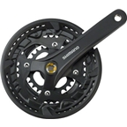 Shimano Acera T3010 9-Speed 170mm 26/36/48t Square Crankset with Chainguard Chain Guard, Black