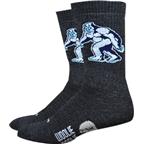 DeFeet Woolie Boolie 6 Yeti Sock: Charcoal
