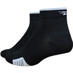 DeFeet Cyclismo 1 Sock: Black/White Stripe