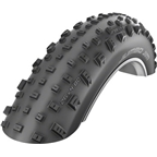 Schwalbe Jumbo Jim Tubeless Easy SnakeSkin Tire, 26x4.8 EVO Folding Bead Black with PaceStar Compound