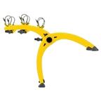 Saris 801 Bones 3-Bike Rack Yellow