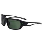 Serfas Scandal Sunglasses, Gloss Black/Green Multi-Coat Lens