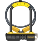 """OnGuard 8015C Bulldog Mini DT Combo Lock 3.5"""" x 5.5"""" with 4' Cable"""