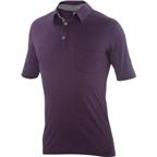 Ibex OD Crosstown Men's Polo Shirt: Purple Fauna Heather