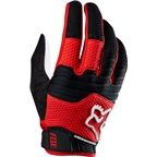 Fox Racing Sidewinder Men's Full Finger Glove: Red/White