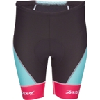 Zoot Cycle Team Women's Cycling Short: Aquamarine Blue/Passion Fruit Pink