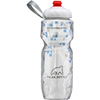 Polar Bottles Insulated Water Bottle with ZipStream Cap: 20oz, Break Away Blue