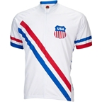World Jerseys 1948 USA Olympic Men's Cycling Jersey: White/Red/Blue
