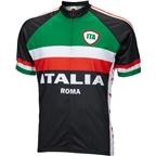 World Jerseys Italia Men's Cycling Jersey: Black