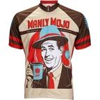 World Jerseys Manly Mojo Men's Cycling Jersey: Brown/Tan