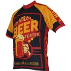 World Jerseys Beer Tester Men's Cycling Jersey: Black/Gold