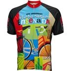 World Jerseys Rosarito Ensedada Men's Cycling Jersey: Black/Blue/Green