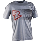 Race Face Trigger Tech Short Sleeve Top: Gray/Flame