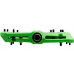 "Race Face Chester Composite Platform Pedal: 9/16"" Green"