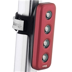 Knog Blinder 4 V USB-Rechargeable Safety Light: Red LED; Red