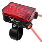 XFire Bike Lane Safety Light with Laser Lane Markers (USB Rechargeable)