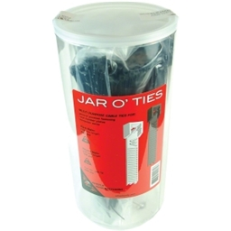 "Wheels Manufacturing Jar O' Ties 4"" x 8"" 600 Pieces, Black & Natural (White)"
