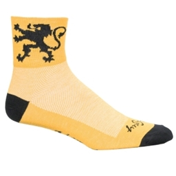 SockGuy Classics Socks - Lion of Flanders Yellow