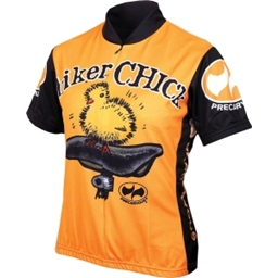 World Jerseys Biker Chick Cycling Jersey: Orange