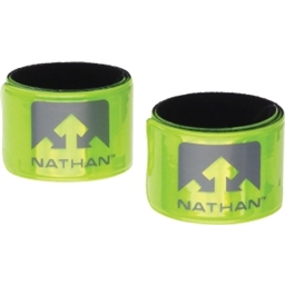 Nathan Reflex Reflective Snap Bands: Yellow; Pair