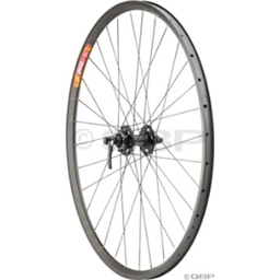Quality Wheels Pavement Series 1 Front Deore XT, Velocity Dyad Black Reflective