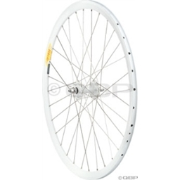 Quality Wheels Front 700c All-City White Track, Deep V All white