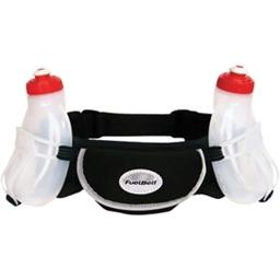 FuelBelt Wachusett Hydration Belt with Two 10oz Bottles: Black; One Size