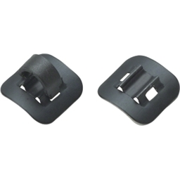 Jagwire Alloy Stick-On Guides w/ C-Clips Black, Box/4
