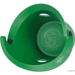 Cycloc Verticle Wall Mounted Bike Rack: Green