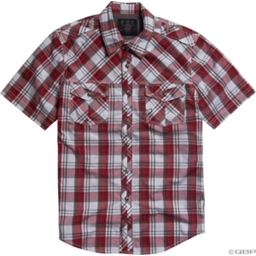 Fox Racing Collin Plaid Woven Shirt: Red/White