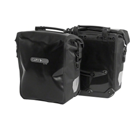 Ortlieb Front-Roller City Front Pannier: Pair; Black